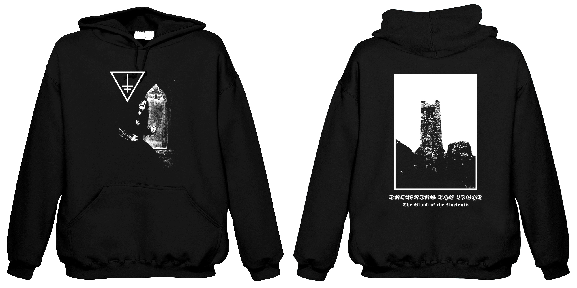 Drowning The Light - The Blood of the Ancients (Hooded sweatshirt)