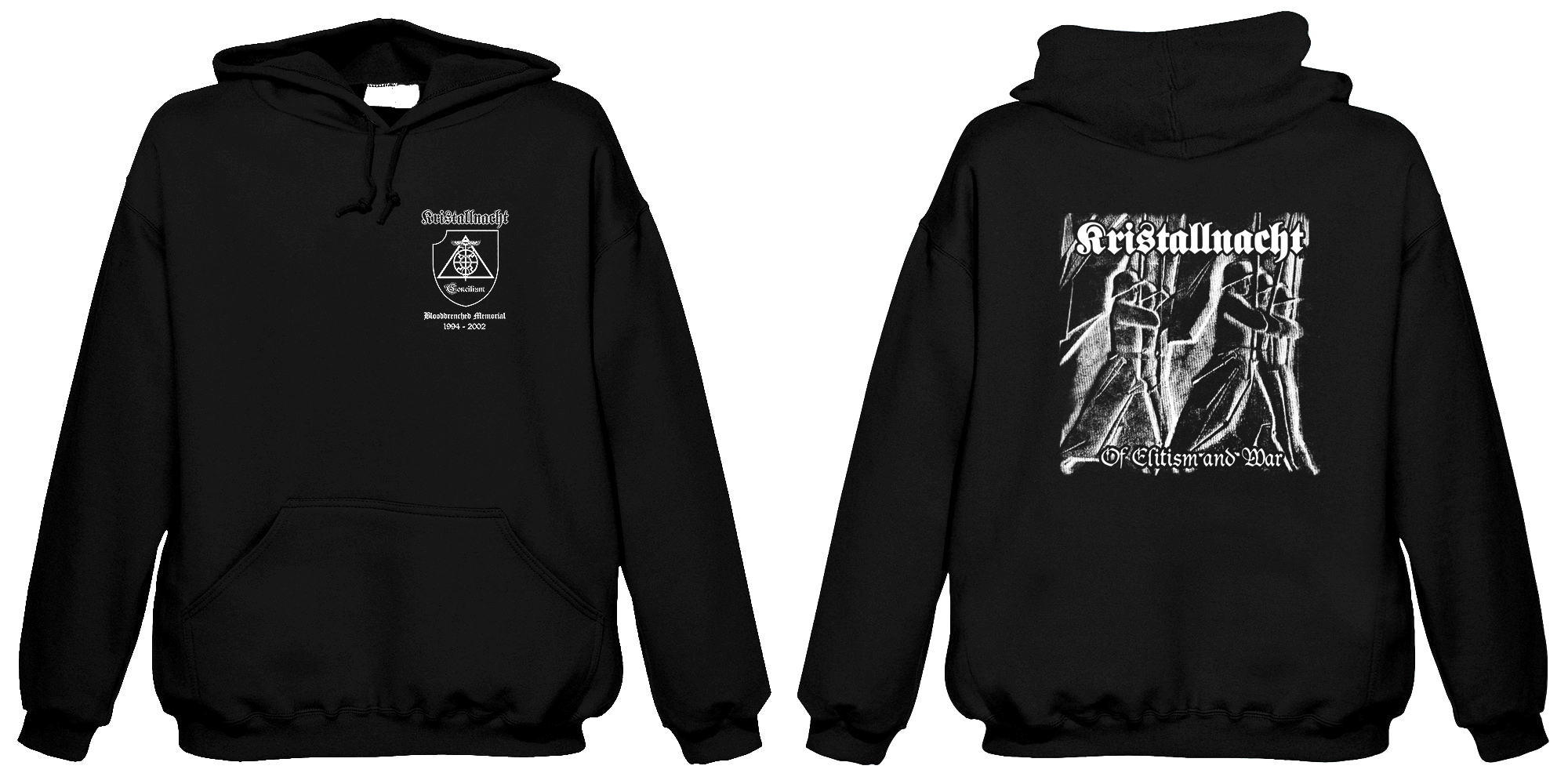 Kristallnacht-Of Elitism And War  (Hooded Sweatshirt)