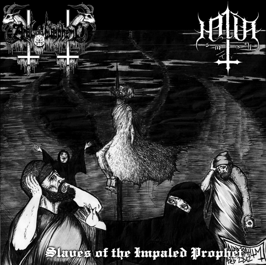ANAL BLASPHEMY/HALLA - Slave of the Impaled Prophet