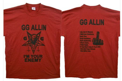 GG Allin - I'm Your Enemy  (red)