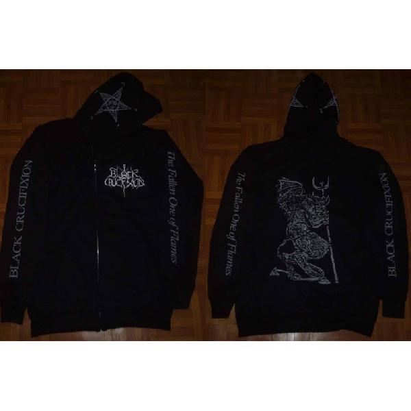 BLACK CRUCIFIXION - The Fallen One of Flames  (Hooded Zipper)
