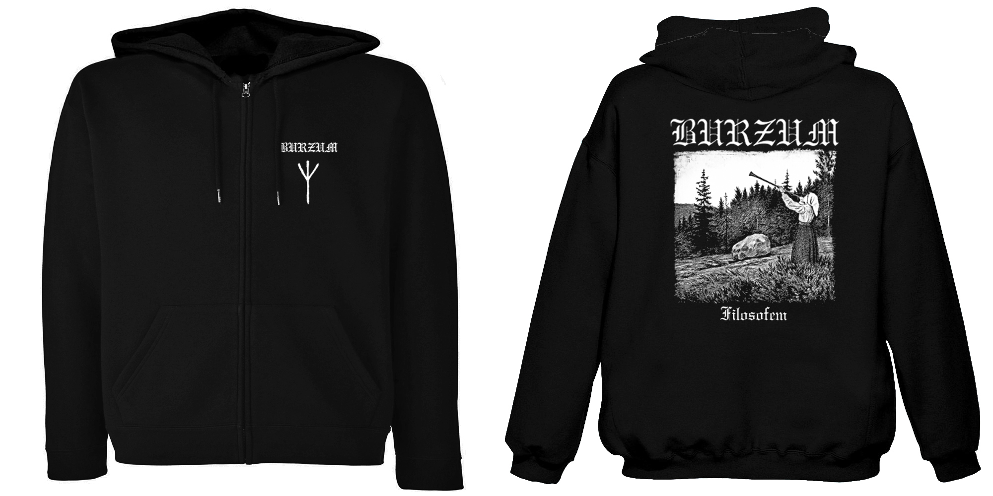 Burzum - Filosofem  (Hooded Zipper)