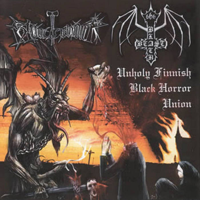 BLACK BEAST / BLOODHAMMER - Unholy Finnish Black Horror Union