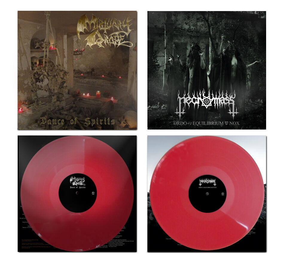 Mortuary Drape / Necromass - Split (Red Vinyl)