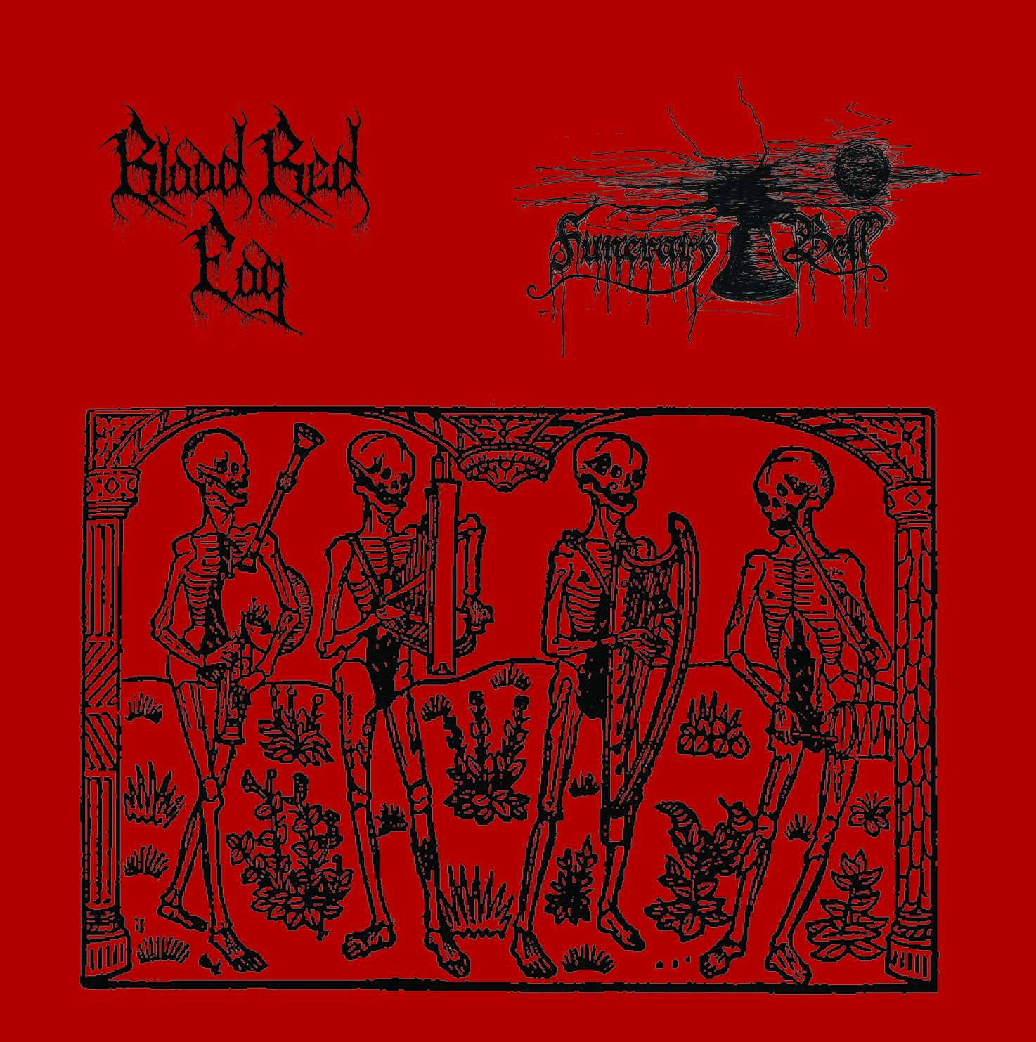 Blood Red Fog/Funerary Bell-Split